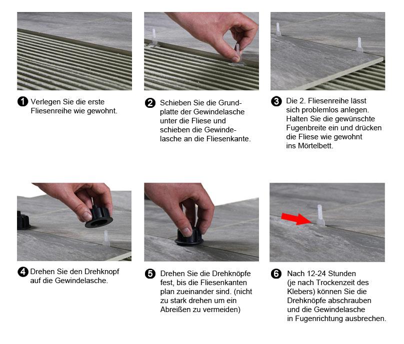 Nivelliersystem FPS Fliesen-Plan-System Gewindestifte 2 mm Kreuz Verlegehilfen